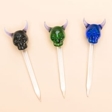 demon skull glass dabber 7